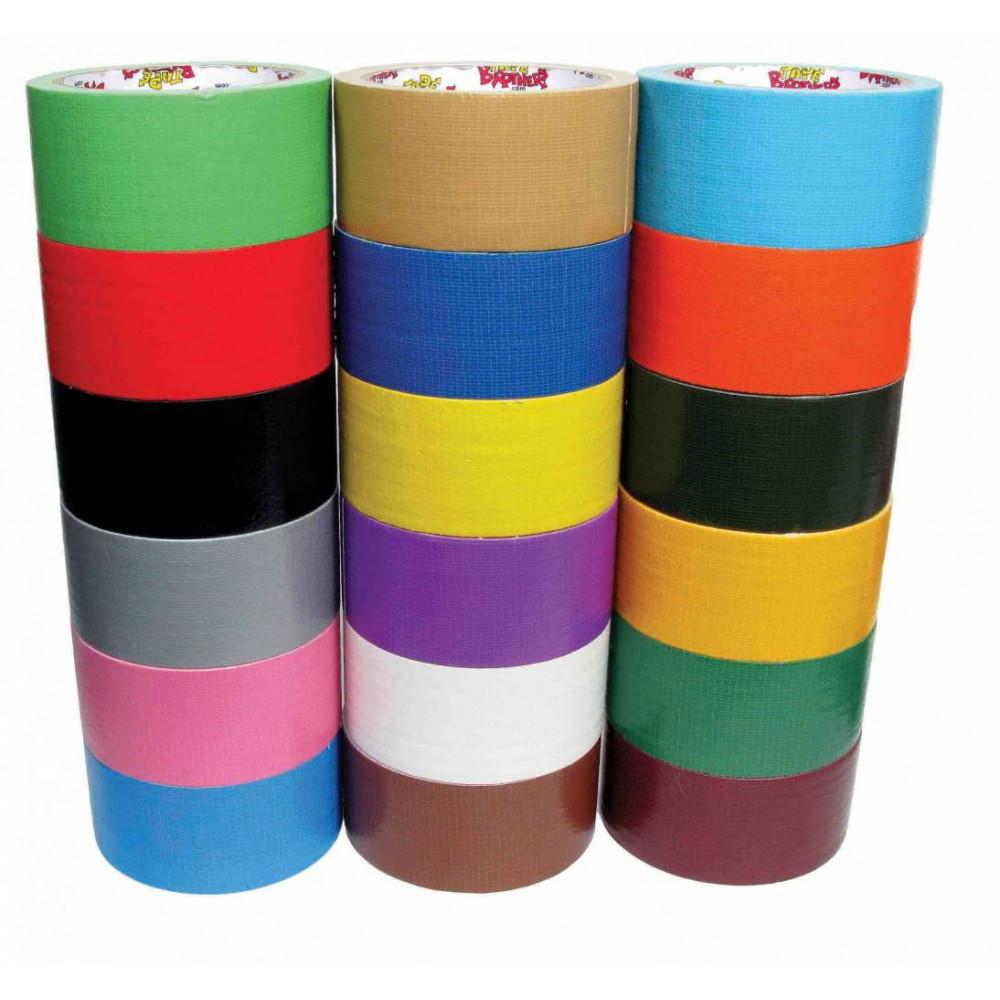 Скотч цветной (Красный, синий, оранжевый, зеленый, желтый  белый, черный) 48*47*60 м. 36 рол/кор